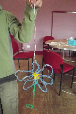 Melted Plastic flower