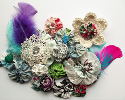 Suffolk Puff Textile Jewellery