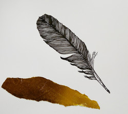 Feather and Gold