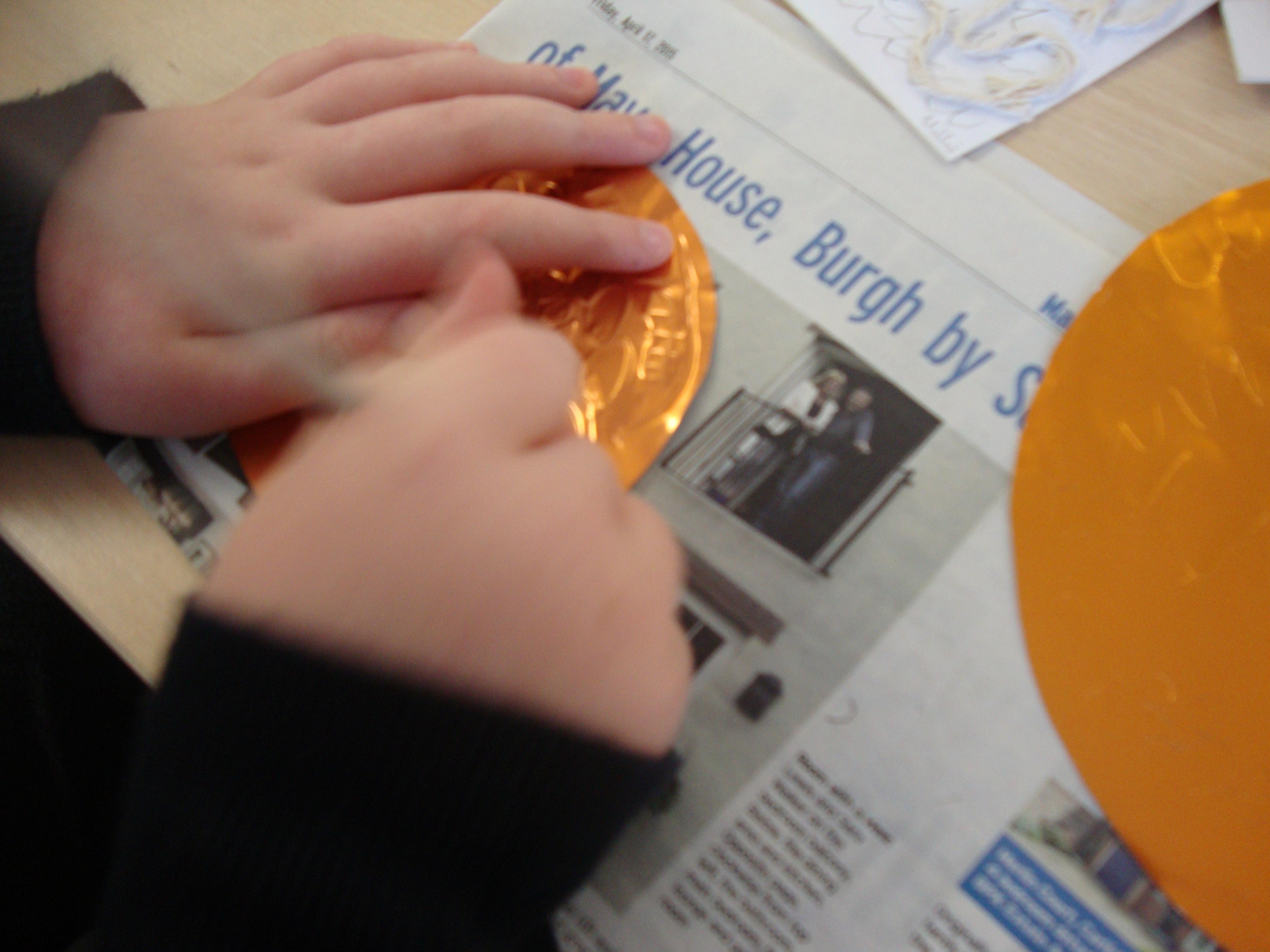 Embossing foil discs