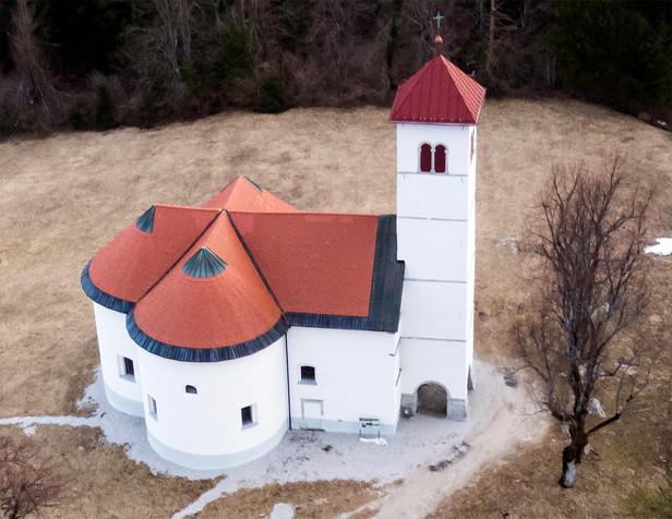 Above st. Volbenk church, Zelše