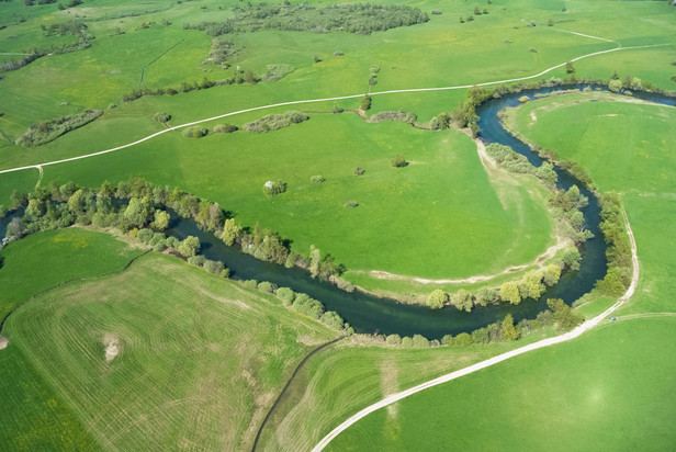 Meandering river Unica