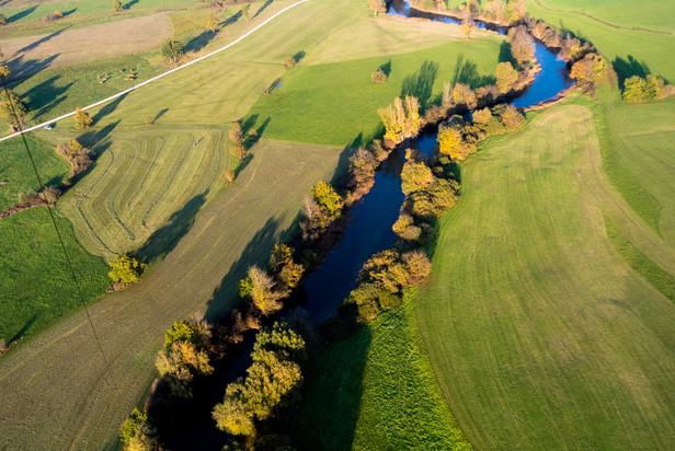 A River on a Karst Field