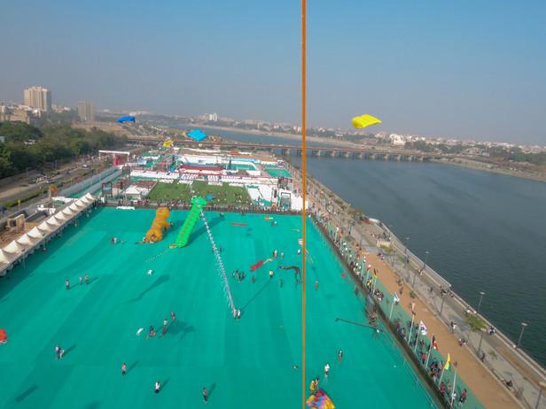 The Skies of Ahmedabad, India