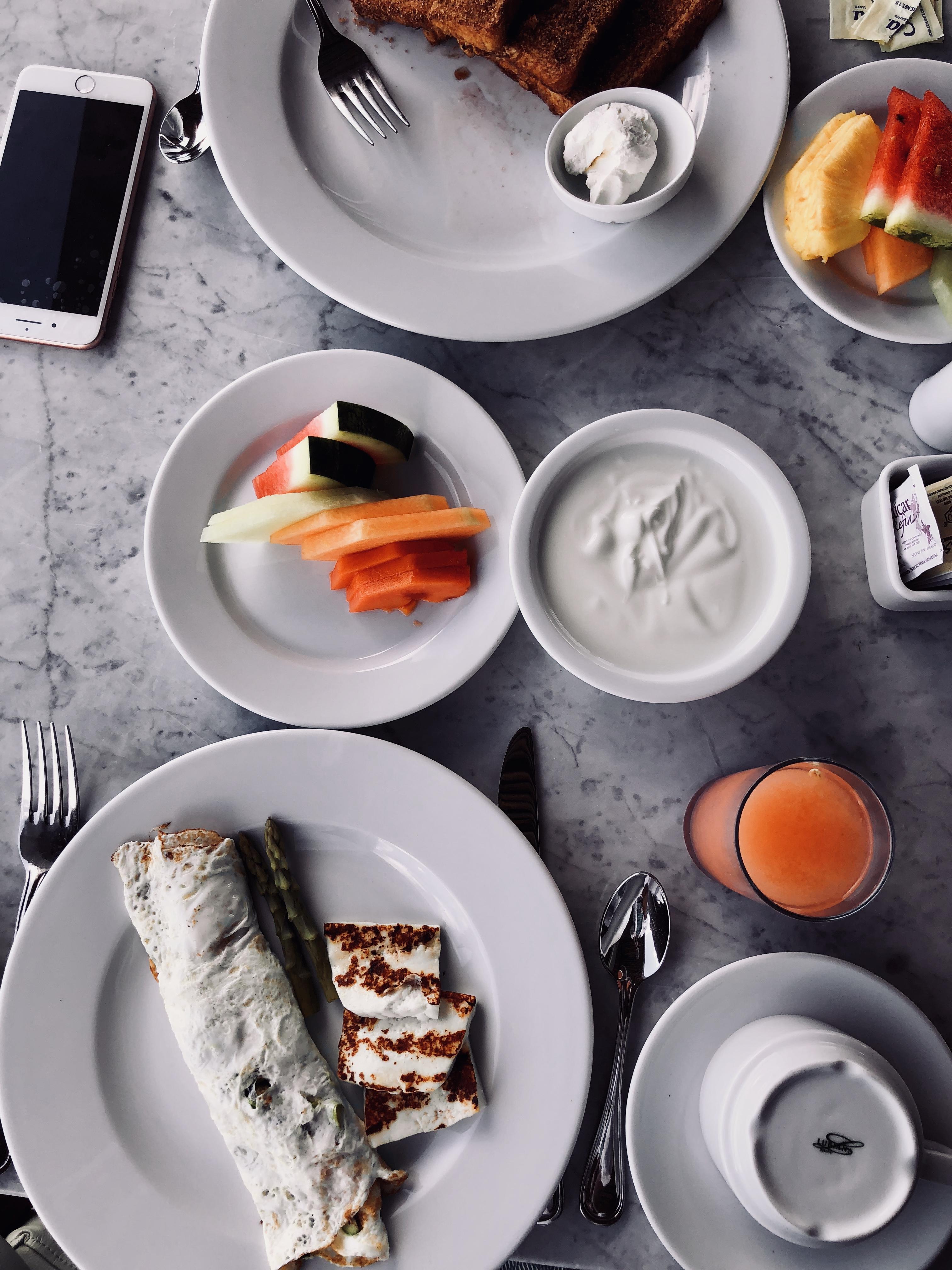 Breakfast by the Blue