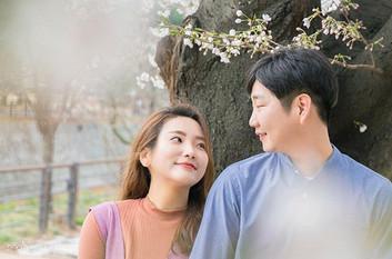 벚꽃 사이💑_완전 유쾌한 두 분 사이에서 엄청난 에너지를 받고 온 날�