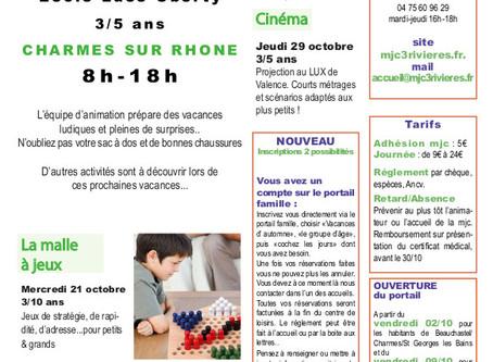 Programme enfance automne 2020