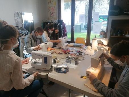 """Coop'appart des """"ateliers découvertes""""   couture pour tous âges !"""