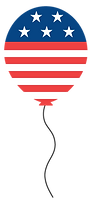 American Flag Balloon