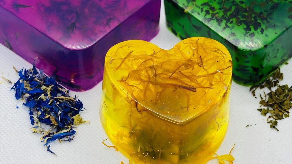 Organic Herbal Soap RAW (lg)