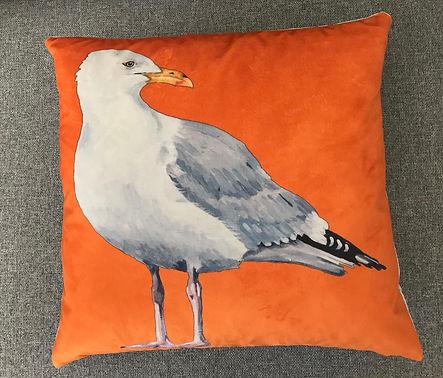 Sparrow House - orange gull cushion.jpg