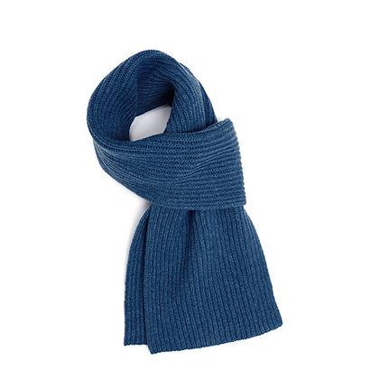 Jo Cranston - Unisex Fishermans Rib scarf in denim blue.jpeg