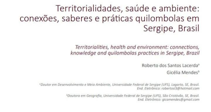 As relações entre ambiente e saúde em saberes e práticas tradicionais