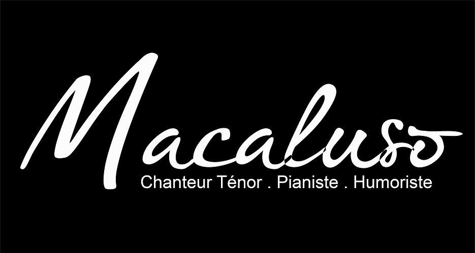 Macaluso + texte Blanc sur fond Noir for