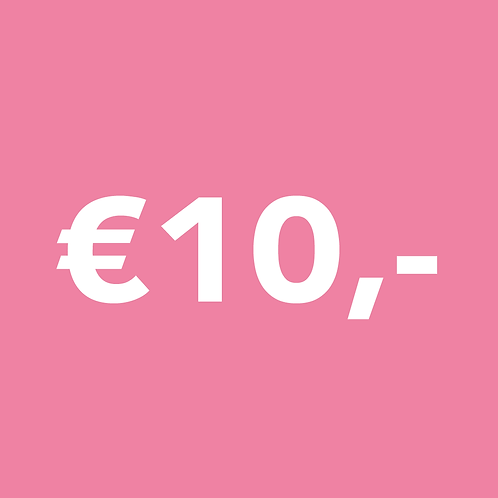 ONE TIME €10,- DONATION