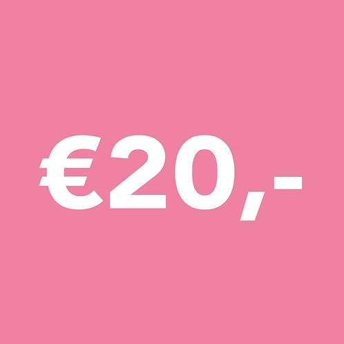 ONE TIME €20,- DONATION