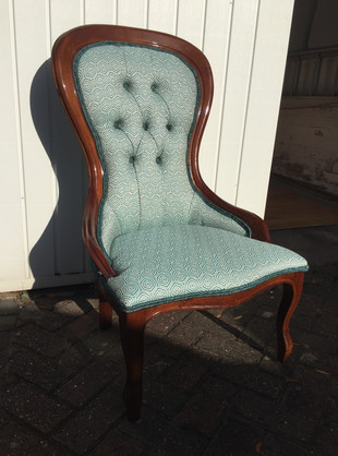 Teal Bedroom Chair Restoration
