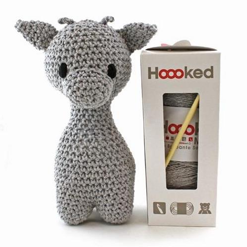 Hooked Crochet Kit - Grey