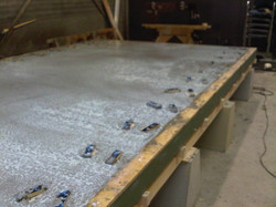 Curing of the concrete