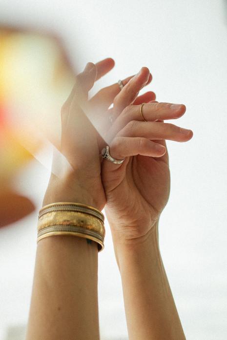 Hands in Light