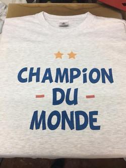 T-shirt infographe marquage textile sois