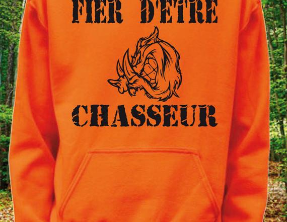 sweatshirt orange à capuche