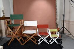 chaise metteur en scène broderie