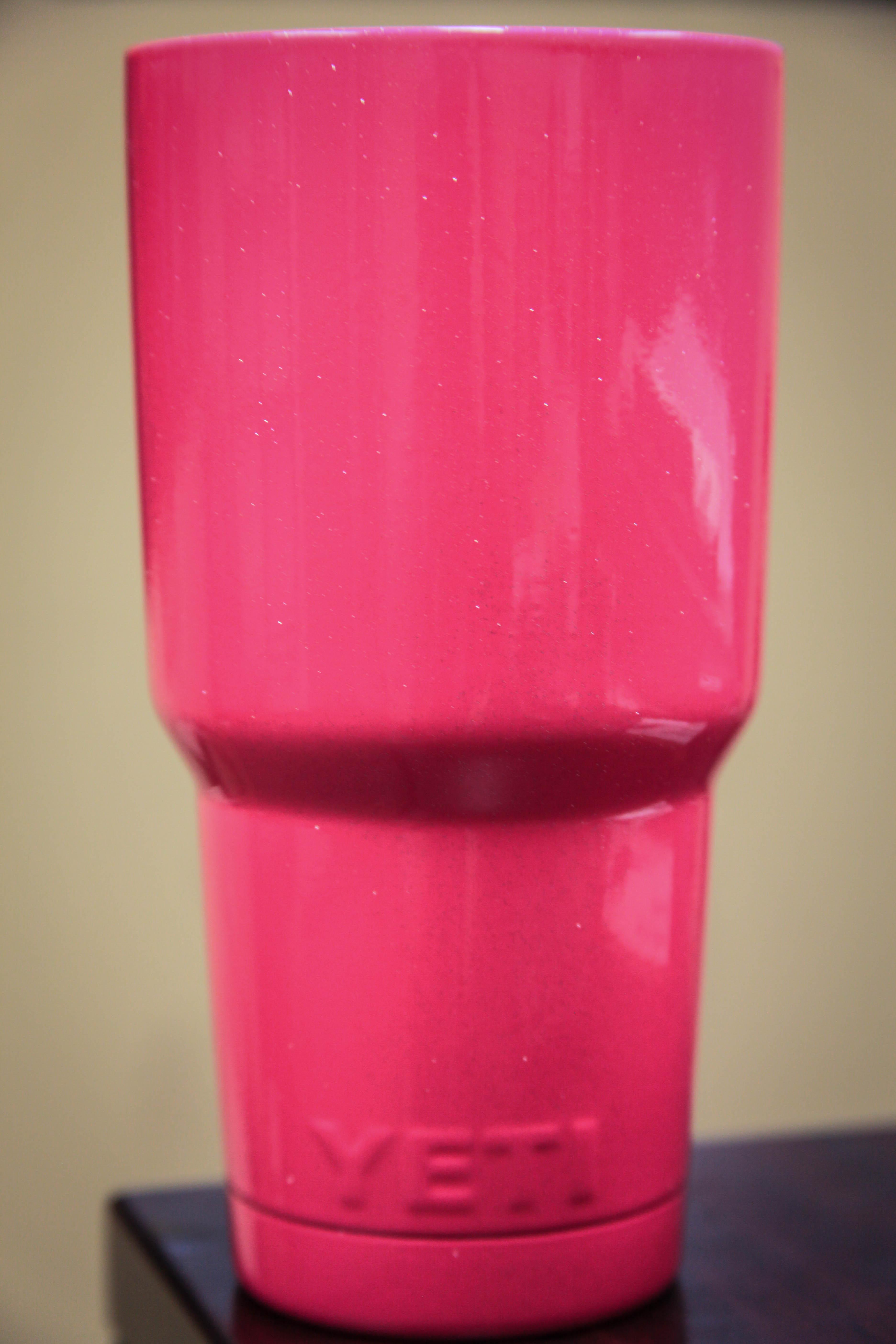 Pink Sparkle Yeti Powder Coat