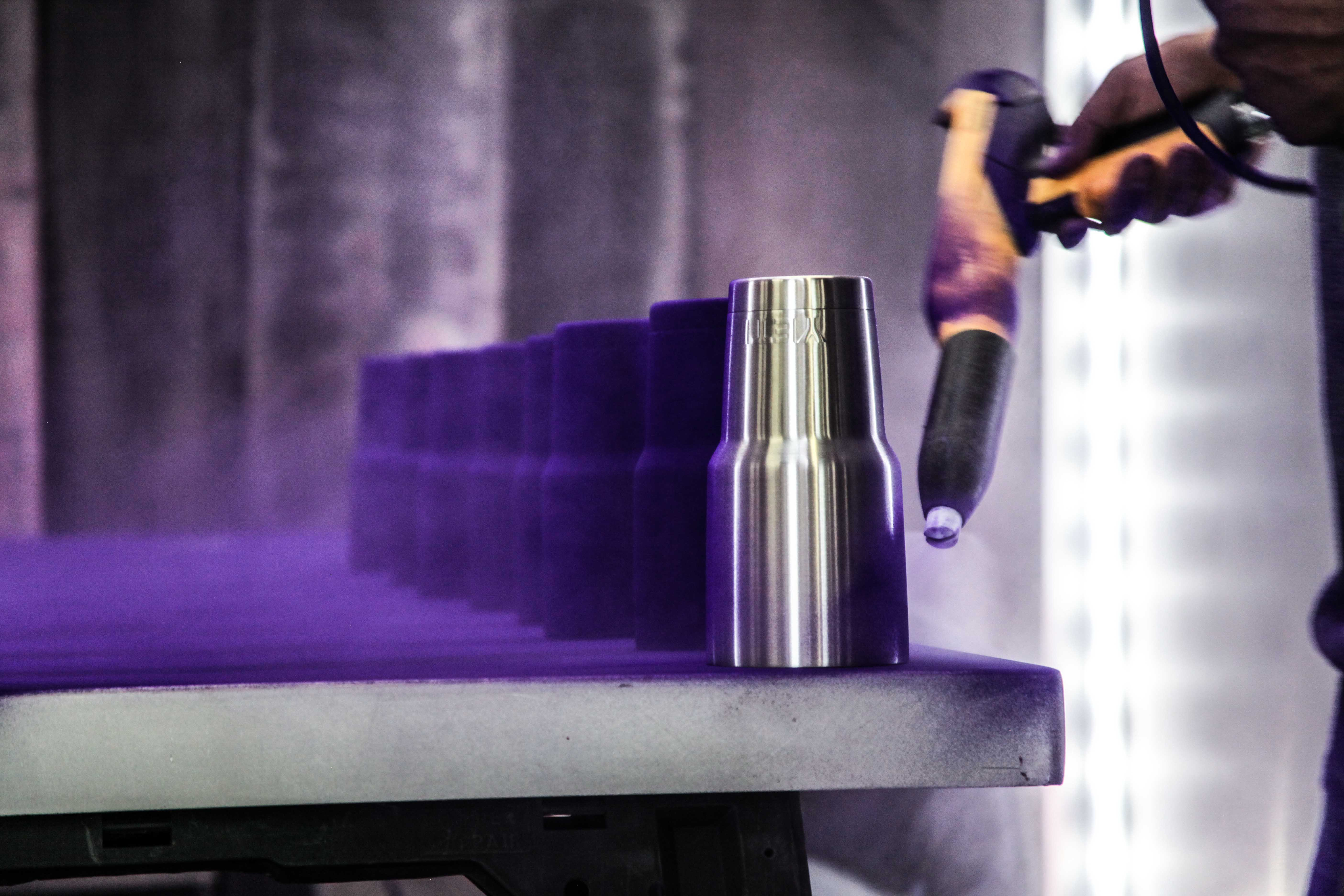 Yeti Purple Powder Coat