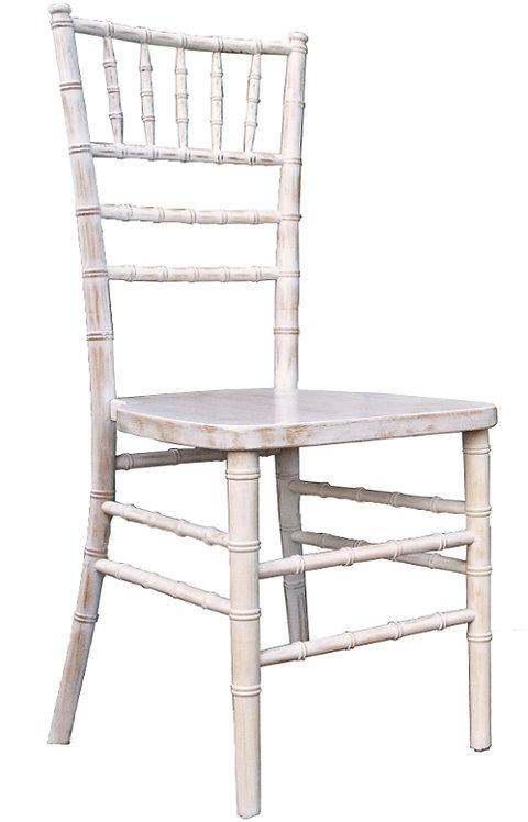 Wood Chiavari Chair White Wash