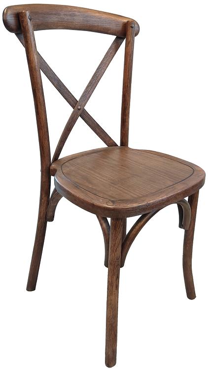 Crossback Chair-Black Grain on Light Fruitwood