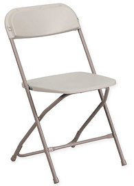 folding chairs plastic. Beige Plastic Folding Chairs