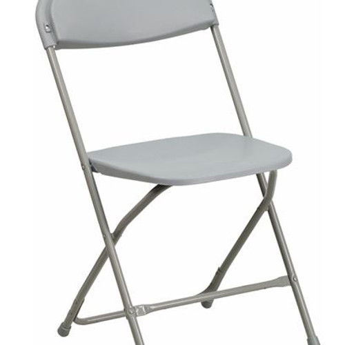 Gray Plastic Folding Chairs