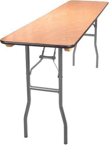 "6ft x 18"" (Seminar) Plywood Table W / Folding Legs"