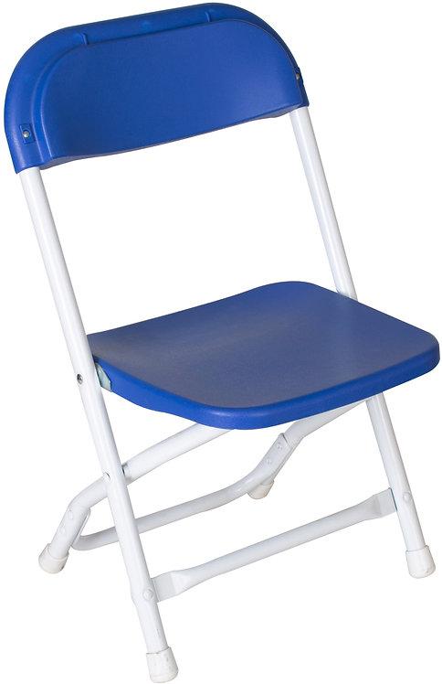 Children's Poly / Plastic Folding Chair   Blue