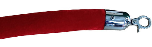 6ft  RED Velour Rope