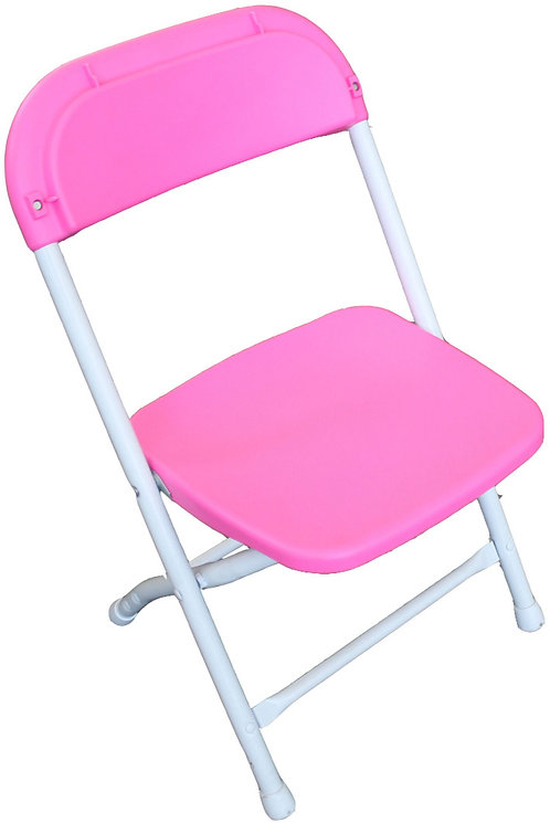 Children's Poly / Plastic Folding Chair   Pink