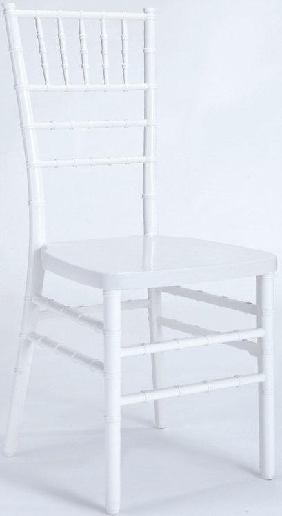 Resin Chiavari 2 Piece Monoblock-White