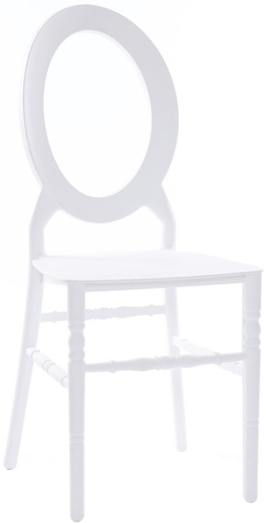 Oval Open Back Resin Chair   White