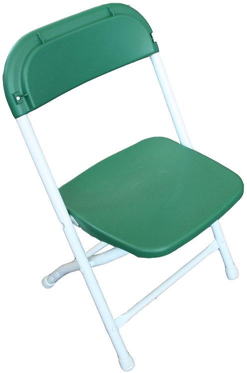 Children's Poly / Plastic Folding Chair   Green