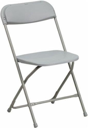 Plastic / Poly Folding Chair Gray