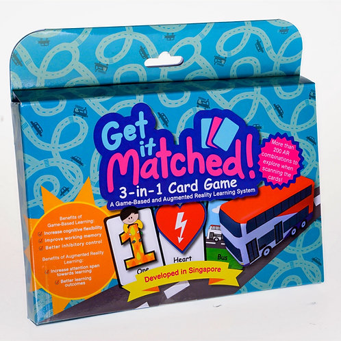Get It Matched! 3-In-1 Card Game