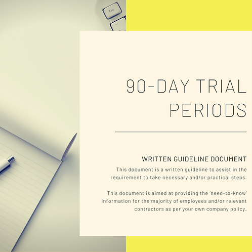 90 Day Trial Periods