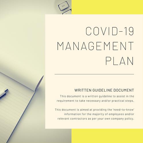 COVID-19 Management Plan