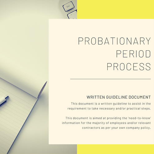 Probationary Period Process