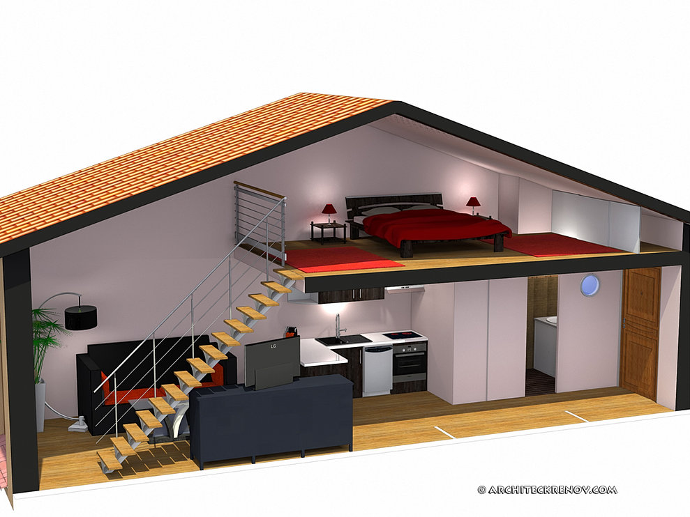 Emejing plan de studio avec mezzanine ideas amazing for Mezzanine plan