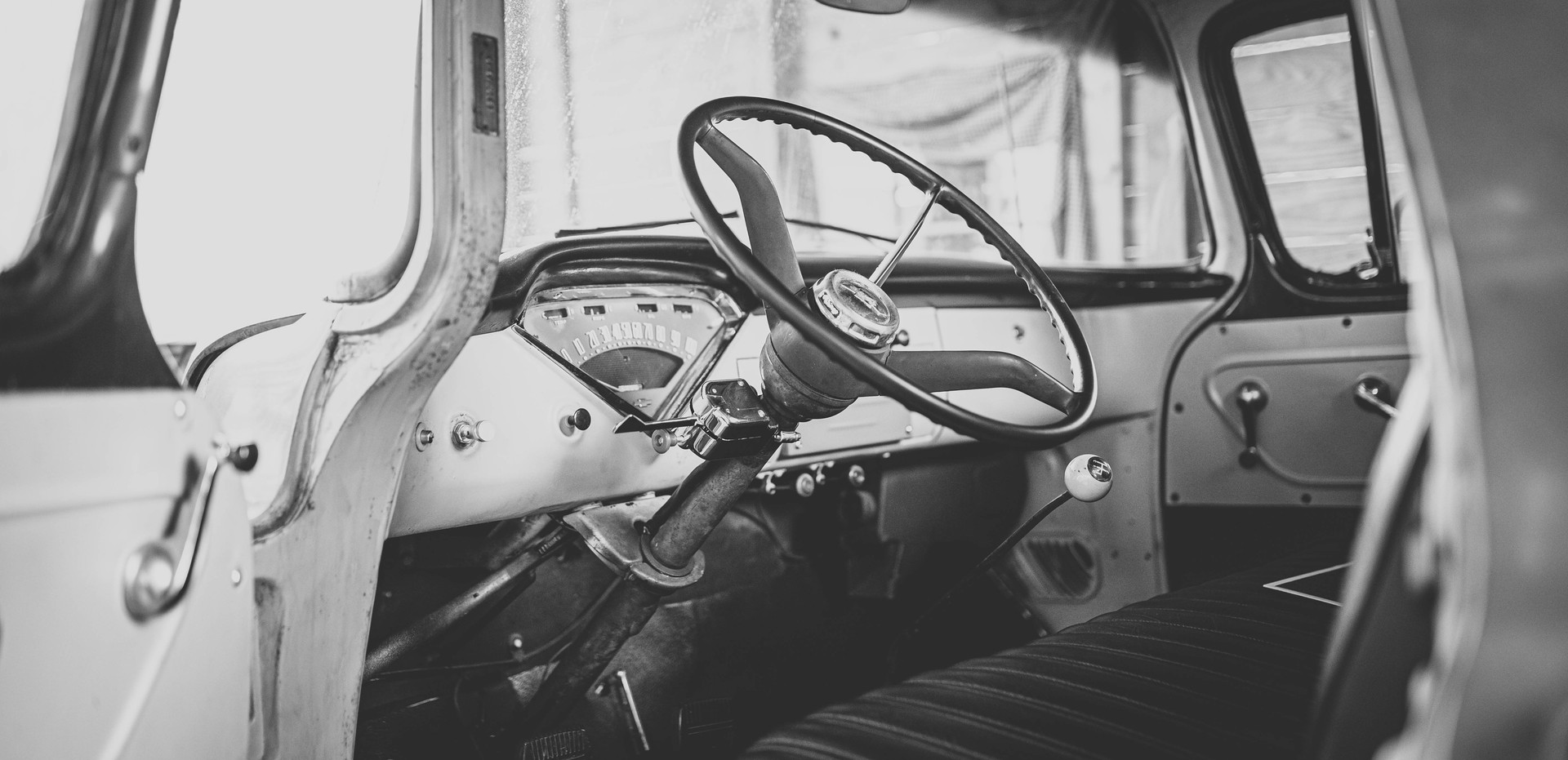 Interior of the truck - really takes you back!