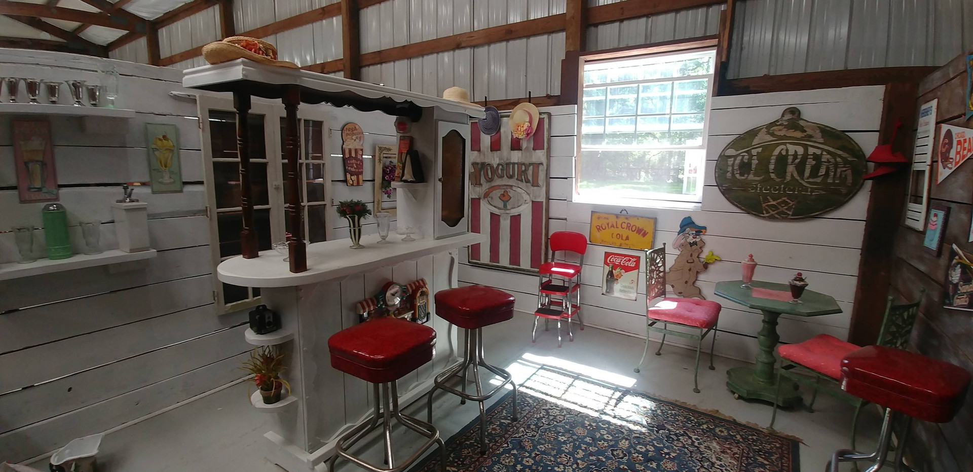 The 1950's Soda Shoppe - recently painted!