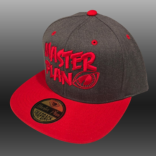 Basic Logo Snapback 2-Tone Red