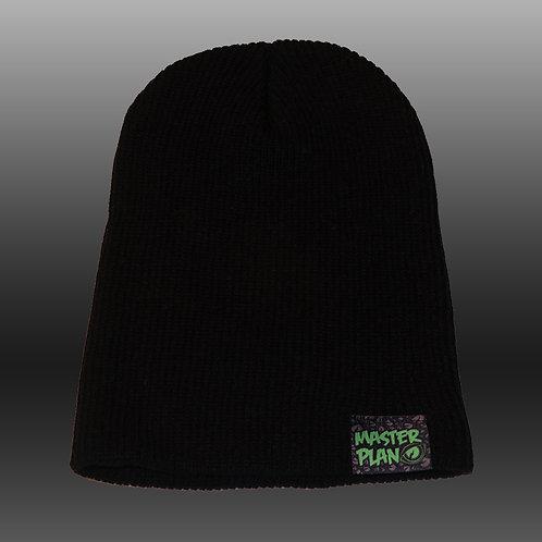 Basic Logo Slouch Beanie - Black